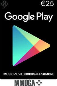25€ Google Play Store Card Geschenkkarten - 25 Euro Gutschein Key Guthaben Code*