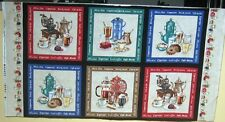 "1 Wonderful ""Gourmet Coffee"" Cotton Fabric Quilting/Wallhanging Panel"