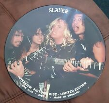 "SLAYER Interview Picture Disc LIMITED EDITION 12"" Vinyl/LP - RARE UK IMPORT"