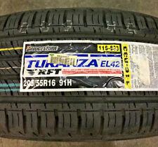 4 New 205 55 16 Bridgestone Turanza EL42 RFT Run Flat Tires