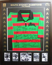 Blazed In Glory - South Sydney Rabbitohs Legends - NRL Signed & Framed Jersey