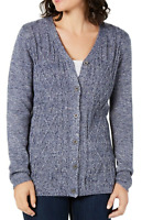 Karen Scott Women's Sweater Blue Size XXL Turbo Button-Front Cardigan NEW #46