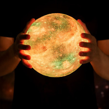 3D Print Star Moon Lamp Colorful Change Touch, Usb Led Night, Galaxy