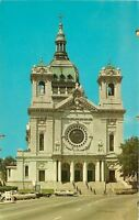 Minneapolis Minnesota~The Basilica Of St Marys Co Cathedral~1960s Cars Postcard