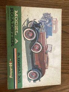 Rare 1930 Model A Roadster - Hubley Metal Toy Kit(Untouched in Original Box)