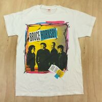 vtg 80s 90s usa made single stitch t-shirt LARGE Bruce Hornsby rock tour