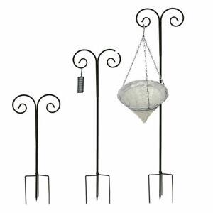 2Pcs Adjustable Double Shepherd Hook 240cm Wedding Plant Hanger Bird Feeder Pole