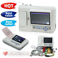 Color ECG Machine 6 Channel Touch EKG Electrocardiograph 12 Leads Free Software