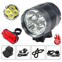 4X CREE 5200LM XML T6 Front Head LED Bicycle Lamp Bike Light Headlamp Headlight