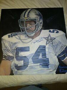 "Randy White Auto on Canvas Reprint of Original Art. Piece is 34""x34""  TriStar"
