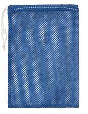 "New Champion 12""x18"" Mesh Ball Laundry Gear Drawstring Bag Cord Lock ID Blue"