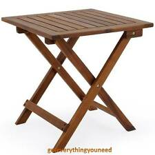 Wooden Folding Stool Table Side End Small Stand Home Office Furniture Set Stools
