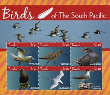 Tuvalu 2015 MNH Birds of South Pacific 6v M/S Booby Godwit Noddy Rail Terns