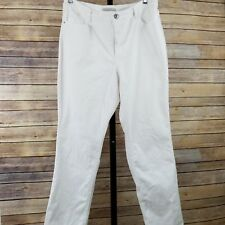 Laura Ashley Women's White Jeans Embellished Stretch Slimming Size 16