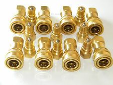 "Carpet Cleaning - Brass 1/4"" Quick Disconnect (Set Of 8) for Wand Hoses"