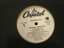"12"" Schoolly D Capitol PROMO 79091 ORIGINAL GANGSTER"