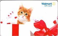 WalMart Christmas Orange & White Tiger Kitten Kitty Present 2011 Gift Card