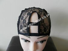 2 Combs attached Middle Part Adjustable Mesh Weaving Cap: Center U Part Wig Cap