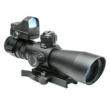 NcStar Combo: Gen II 3-9x42 P4 SNIPER Scope/Green Dot STP3942G/Gv2 MRD34/DGAB