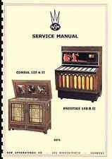 MANUALE COMPLETO JUKEBOX SERVICE MANUAL NSM PRESTIGE 160B II AND CONSUL 120A II