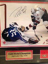 Ryan Smyth Signed Team Canada 2002 Olympics Gold Medal Framed  Matte Photo