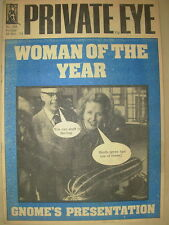 PRIVATE EYE MAGAZINE No 366 DECEMBER 26 1975 MARGARET THATCHER WOMAN OF THE YEAR