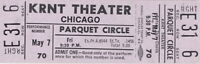 CHICAGO 1971 CHICAGO III TOUR UNUSED KRNT TICKET / TERRY KATH / NMT 2 MINT No. 2