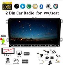9''2 Din Android GPS Autoradio para VW/Seat+Cámara BT iOS Enlace Espejo FM Wifi