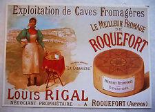 CPM REPRODUCTION AFFICHE ANCIENNE / ROQUEFORT LOUIS RIGAL