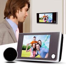 """Digital Peephole 120° Viewer Door Eye Doorbell 3.5"""" Touch Screen Color IR Camera"""