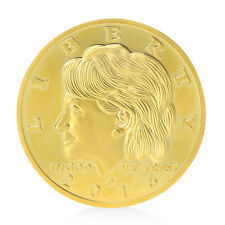 New Golden Hillary Clinton In God We Trust Commemorative Challenge Coin Gifts