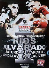 BRANDON RIOS vs. MIKE ALVARADO / Original TECATE Fight Sponsors Boxing Poster