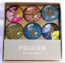 Fringe 6 Dog Glass Art Magnets Poodle Schnauzer Bulldog Dachshund Whippet Westie