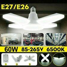 60W 24000Lm Deformable Led Garage Light Bright Shop Ceiling Lights Fixture Bulb