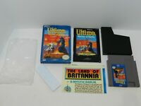 Ultima Warriors of Destiny Nintendo NES Game Complete in Box CIB Tested + Map