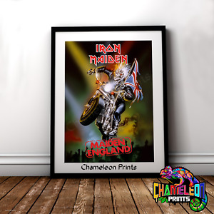 Iron Maiden Made In England A4/A3 Iron Maiden Poster