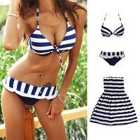 Women Tankini Bikini Set Swimsuit Bathing Skirted Swimwear Beach Dress Monokini