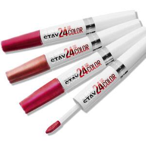 New* Maybelline 24Hr 2 Step Lip Color - Colour & Balm Lipstick | Rare USA Shades