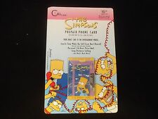 The Simpsons Prepaid Phone Card Bart Simpson 1995 Sealed / Unopened