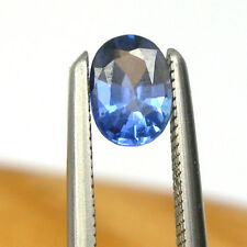 0.31 carat Oval 5x3mm Ceylon Sapphire Strong Blue Color Gemstone, L#11