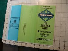 HIGH GRADE Vintage brochure: MULTI-WEEK 100,000 game NH LOTTERY/SPEEPSTAKES 1979