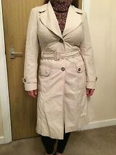 Ladies Wallis Long Belted Mac Coat - Size 10