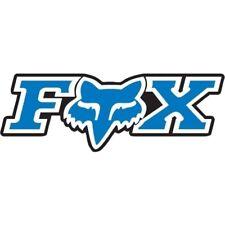 Fox Racing Pair of Sticker Decal Corporate Sticker 3 Inch Blue 14904