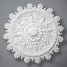 """Plaster Ceiling Rose Victorian 'The Audrey' 770mm/ 30"""" Handcrafted"""