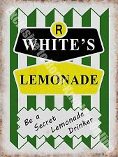 R Whites Lemonade, 149 Vintage Drink Cafe Old Shop Retro, Medium Metal/Tin Sign