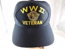 World War 2 Veteran Hat Snap Back Eagle Crest Official Military Headwear USA