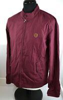 Pretty Green Harrington Jacket M Burgundy Coat Retro Mod Indie Style