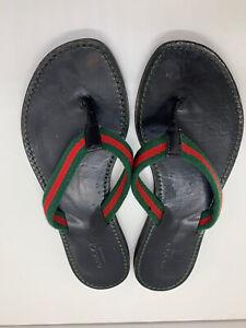 Gucci GG Women's Sandal Black Web Thong Flip Flop EU 36 - US 6