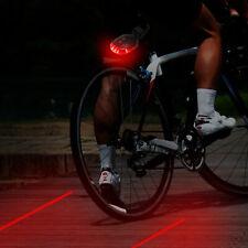 Avertissement de sécurité du feu arrière laser à ligne parallèle de bicyclette
