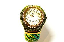 Jimmy Crystal New York Watches Made with Swarovski Elements  WJ629 Gold